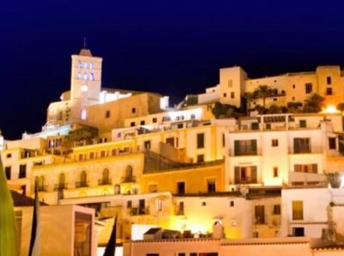 IBIZA OLD TOWN BY NIGHT
